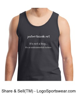 Just Write Code Bug - 100% Heavyweight Ultra Cotton Tank Top Design Zoom