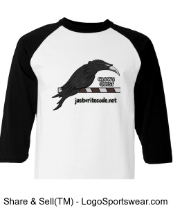 Crow's Quest - Champion 100% Cotton Raglan Sleeve Design Zoom