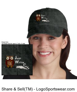 Just Write Code - Ladies Garment-Dyed Cap Design Zoom
